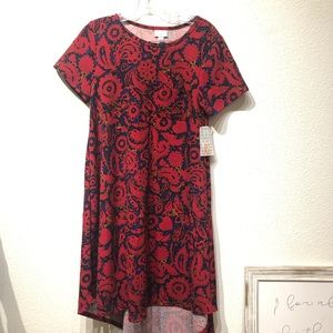 LuLaRoe Carly dress new XS  beautiful bright red